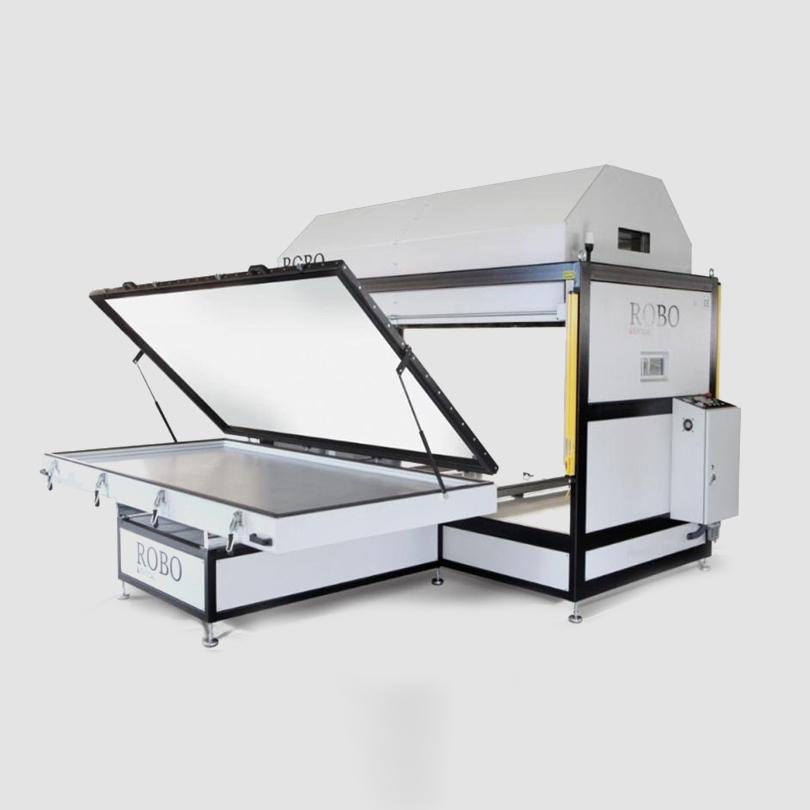 prensa de vacio de membrana industrial para curvar madera y chapar